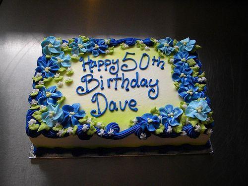Blue 5 petal flower 9x13 sheet cake Cake Crazy cakes and Cake photos