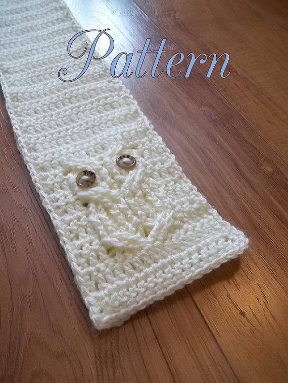 Único Patrón De Crochet Earwarmer Bosquejo - Ideas de Patrones de ...