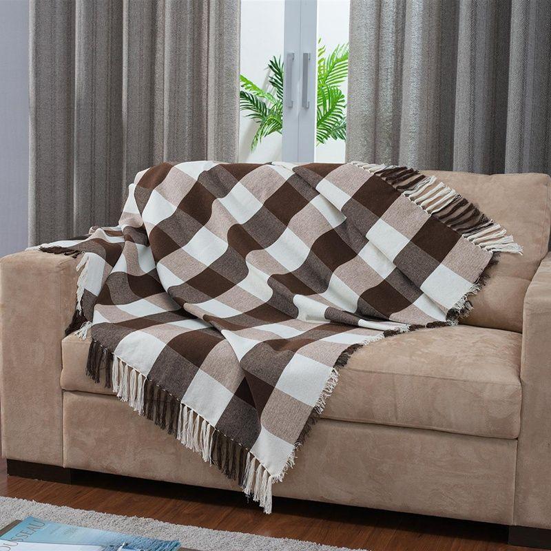 Manta para sof country 150 x 140 cm tabaco decor em - Manta para sofa ...