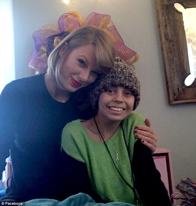 Hugs: The singer wrapped her arm around Delaney who has undergone chemotherapy treatments