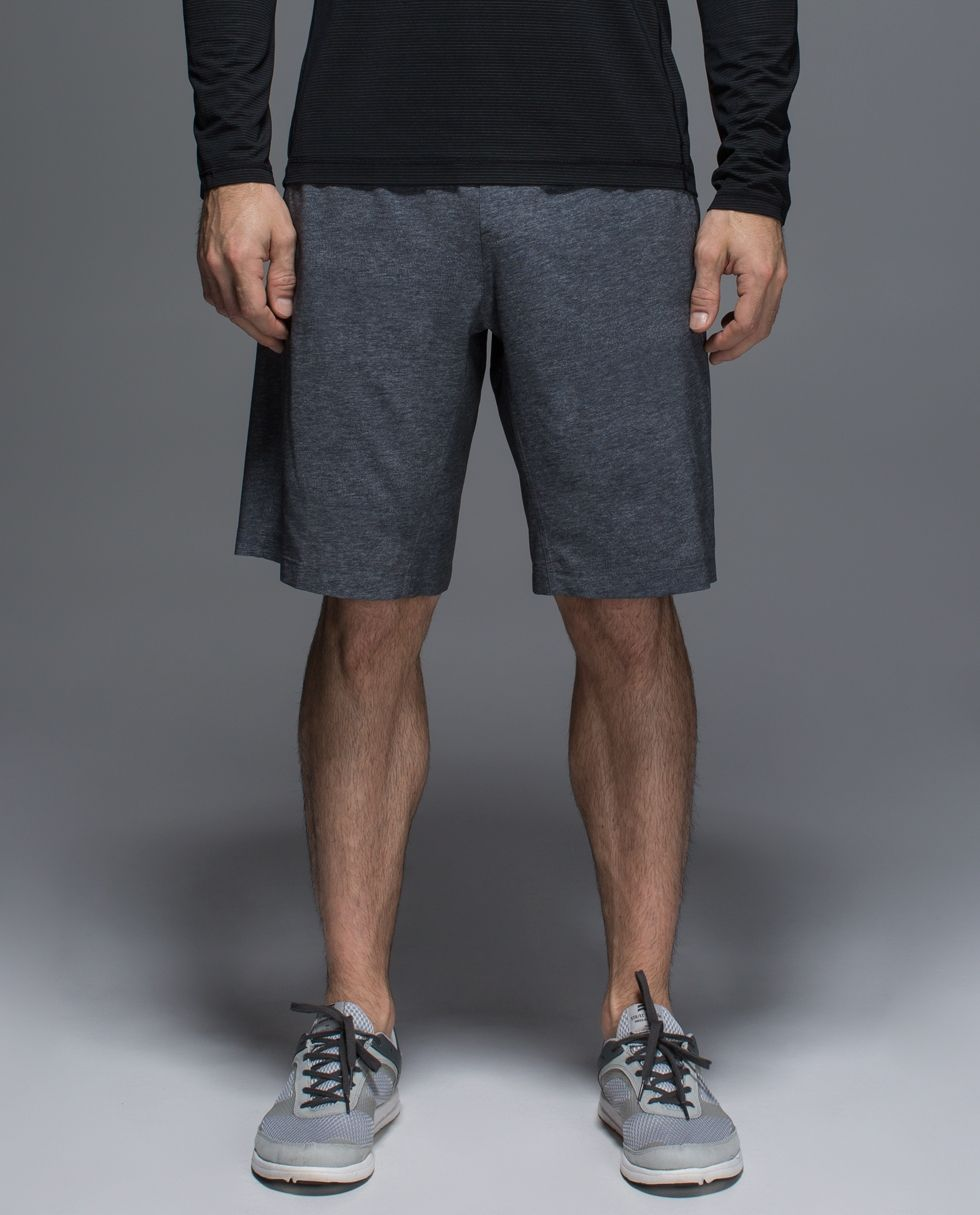We designed these long, loose-fitting shorts to wear running or at the gym. We made them without a liner so we can throw them on over our underwear, compression shorts or run tights (and if we go commando, we stay in the back row during Downward Dog).