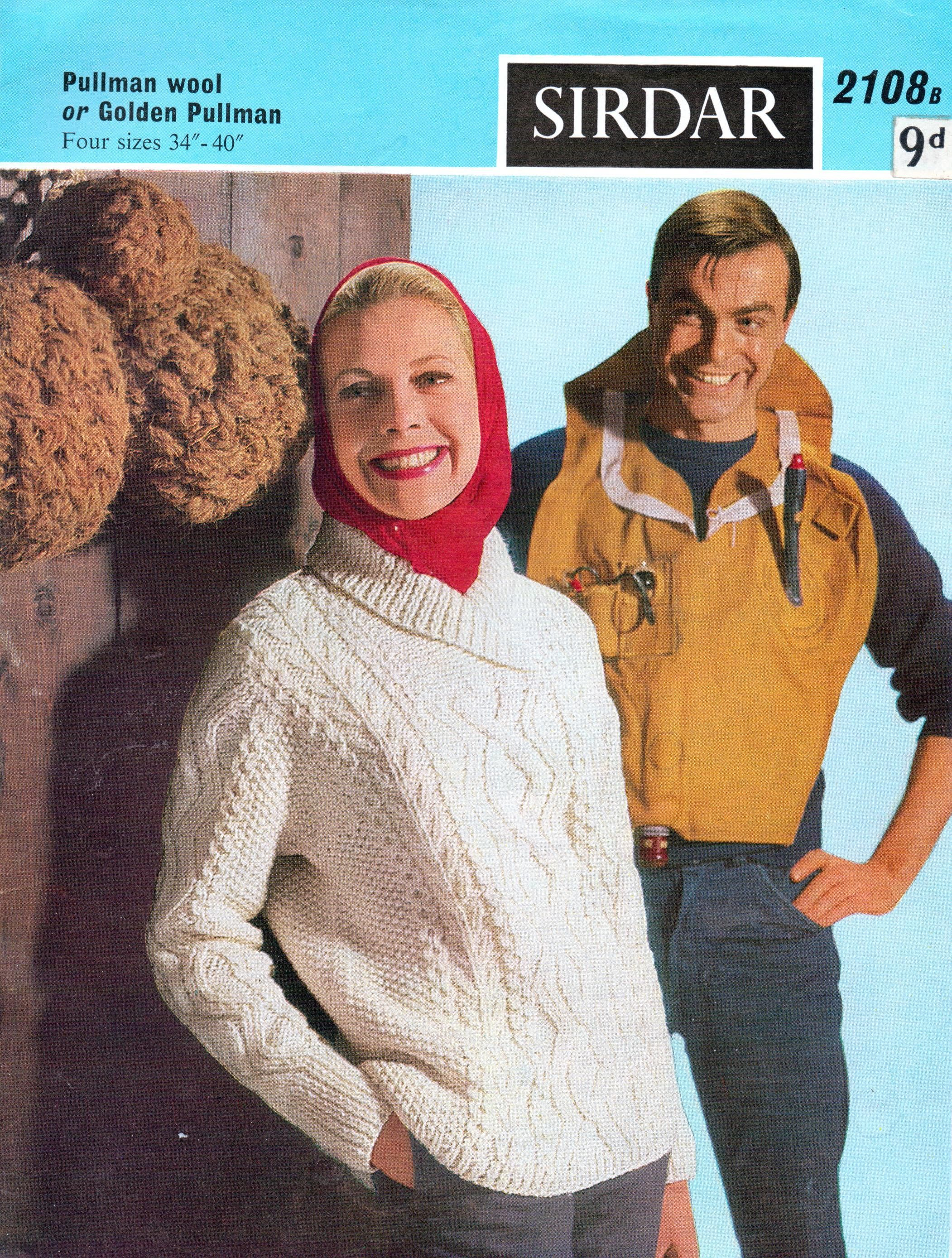 Aran Knitting Pattern Cable Shawl Collar Sweaters Jumpers 34 40 inch ...