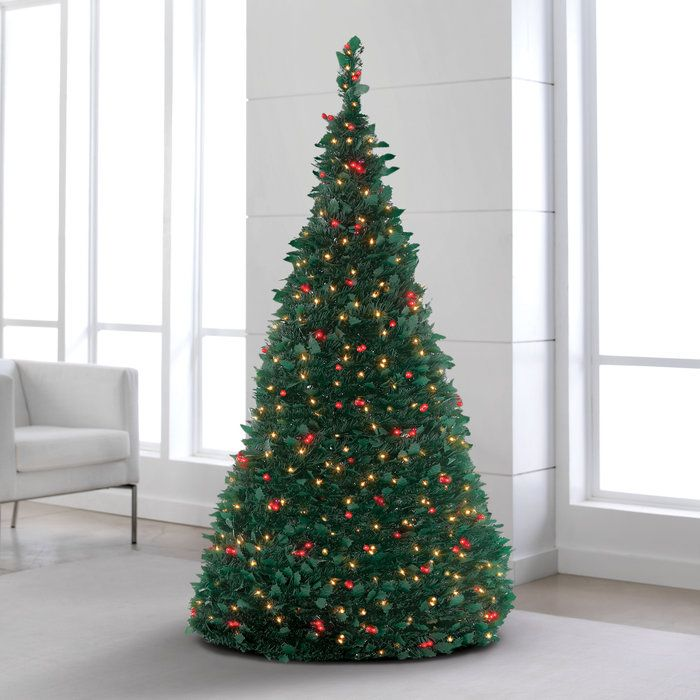 Electric Pre Lit Pull Up Christmas Tree Natal