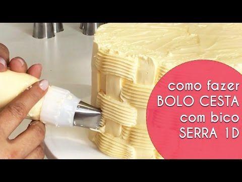 Como Fazer Cesta com Bico Serra Grande Modelo 1D - YouTube