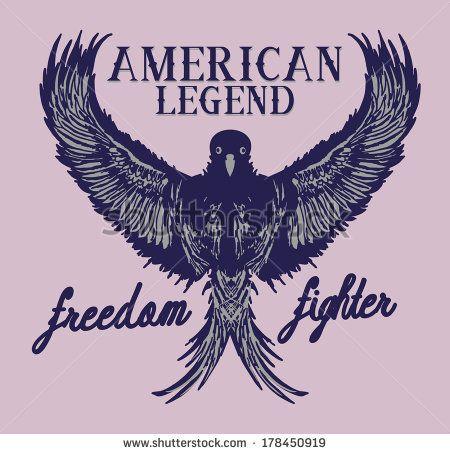 American Athletic Eagle Spirit Stok Vektör İllüstrasyonu Kodu: 178450919 : Shutterstock