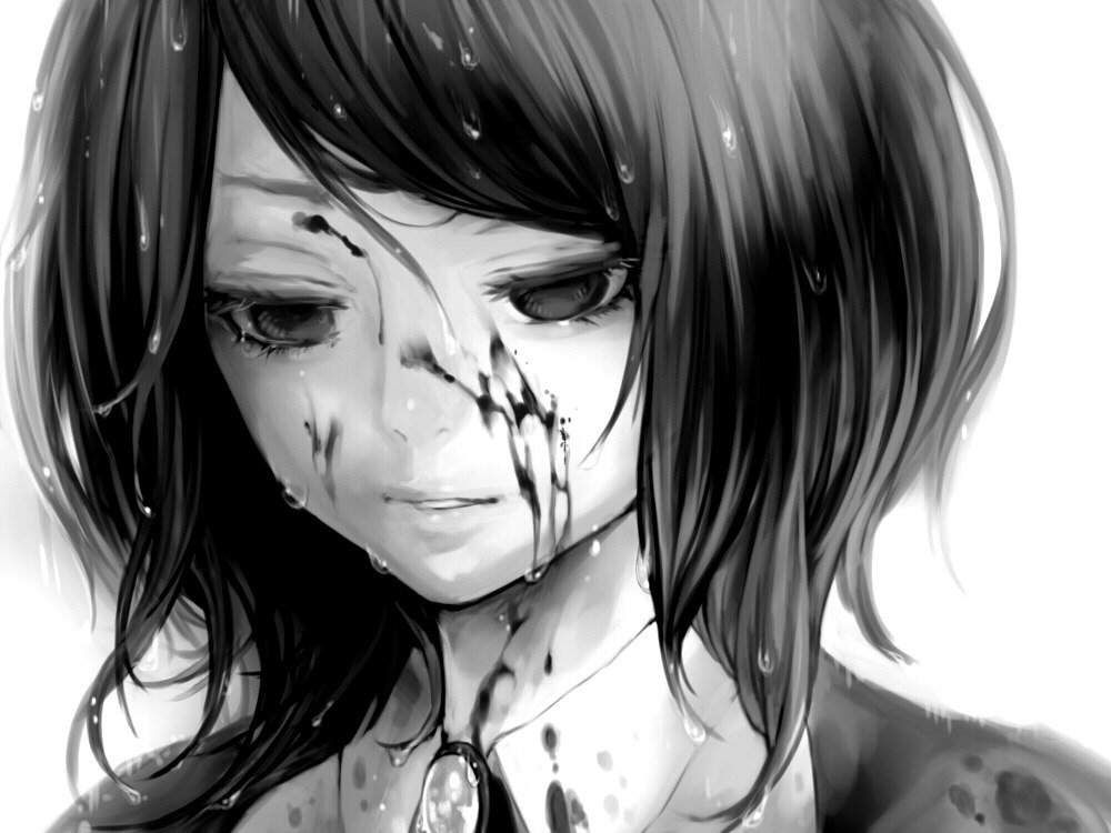 Аниме картинки грустные и плачущие