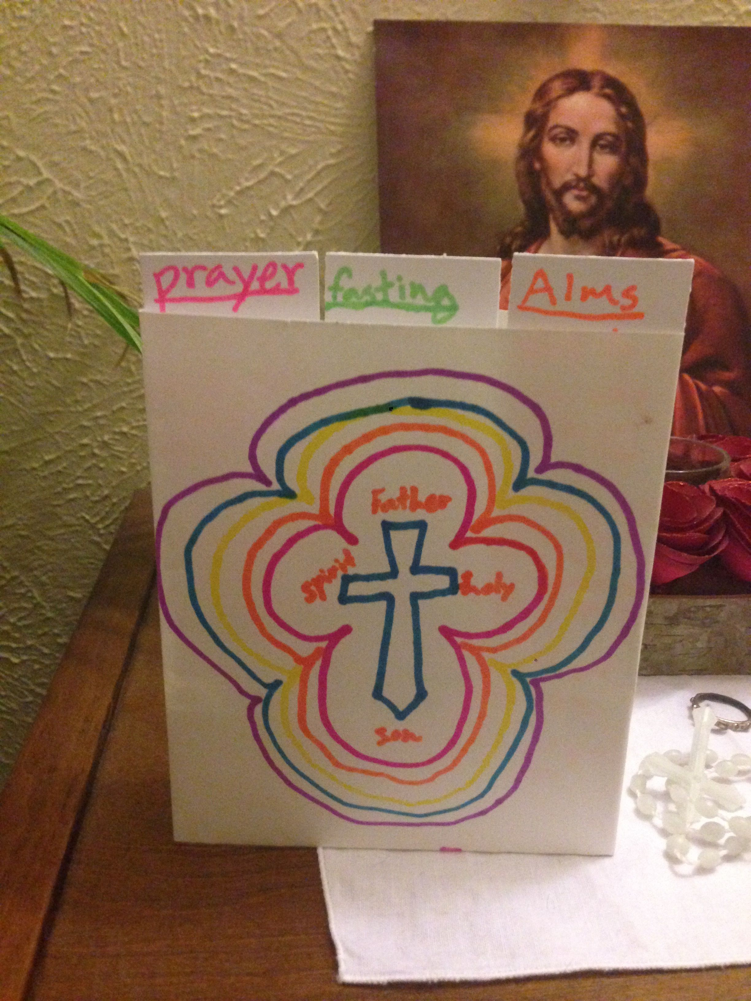 Lent Craft For Kids Prayer Fasting And Alms Giving Also Includes Lent Memory Bible Verses