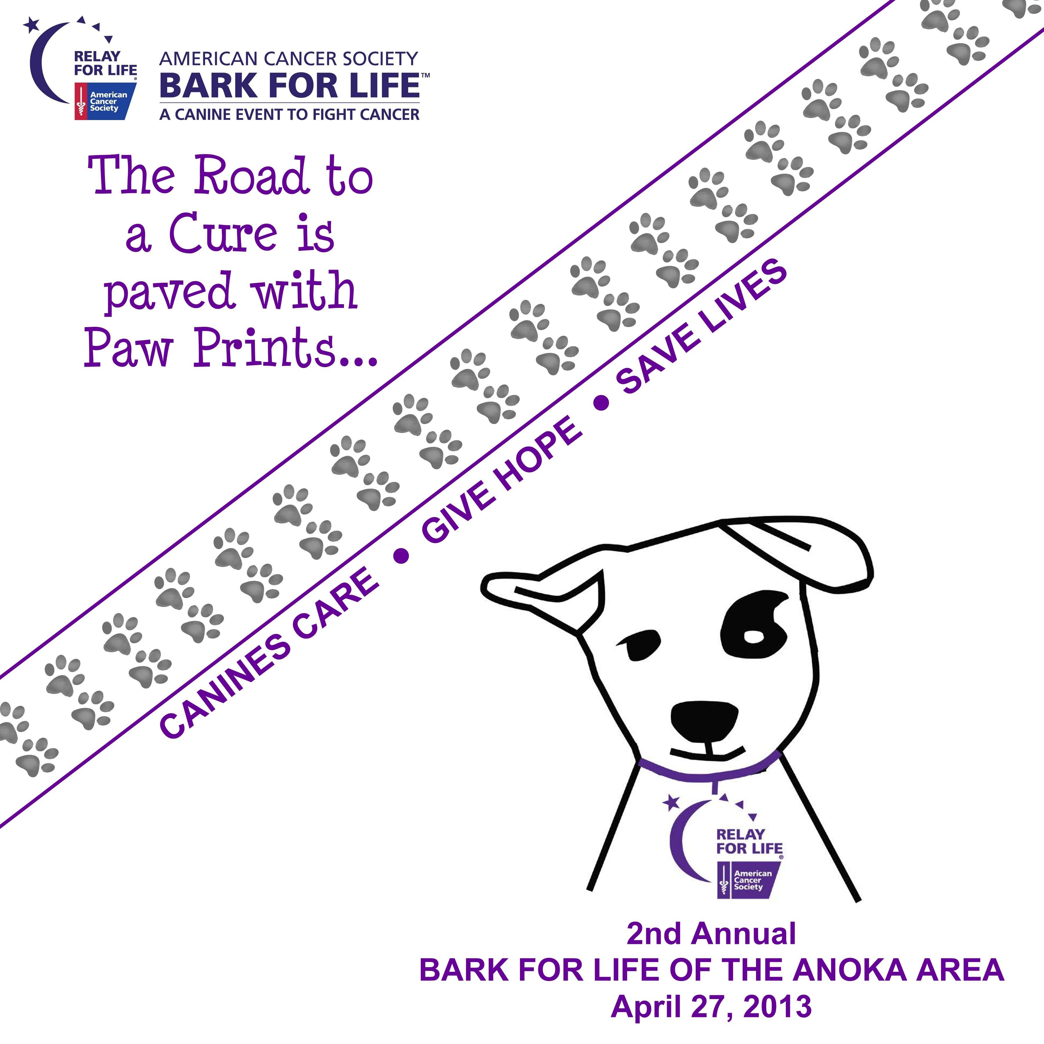 Bark For Life Of The Anoka Area On April 27 2013 At The Draw In