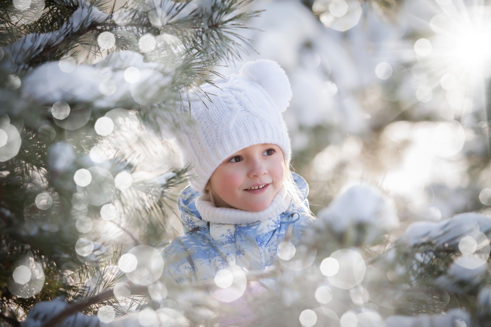 Картинки малыши и снег