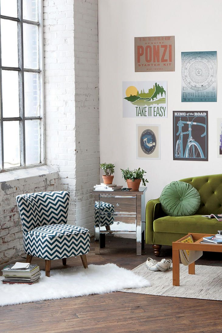 Ziggy Chair | Olive green couches, Bright lights and Lights