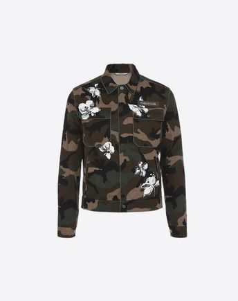 5d5285f35de Are you looking for Valentino Uomo MARIPOSA PRINT CAMOUFLAGE JACKET  Find  out all the details at Valentino Online Boutique and shop designer icons to  wear.