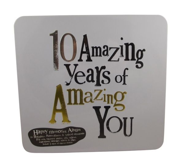 10 Year Wedding Anniversary Tin Gifts: Bright Side 10 Amazing Years