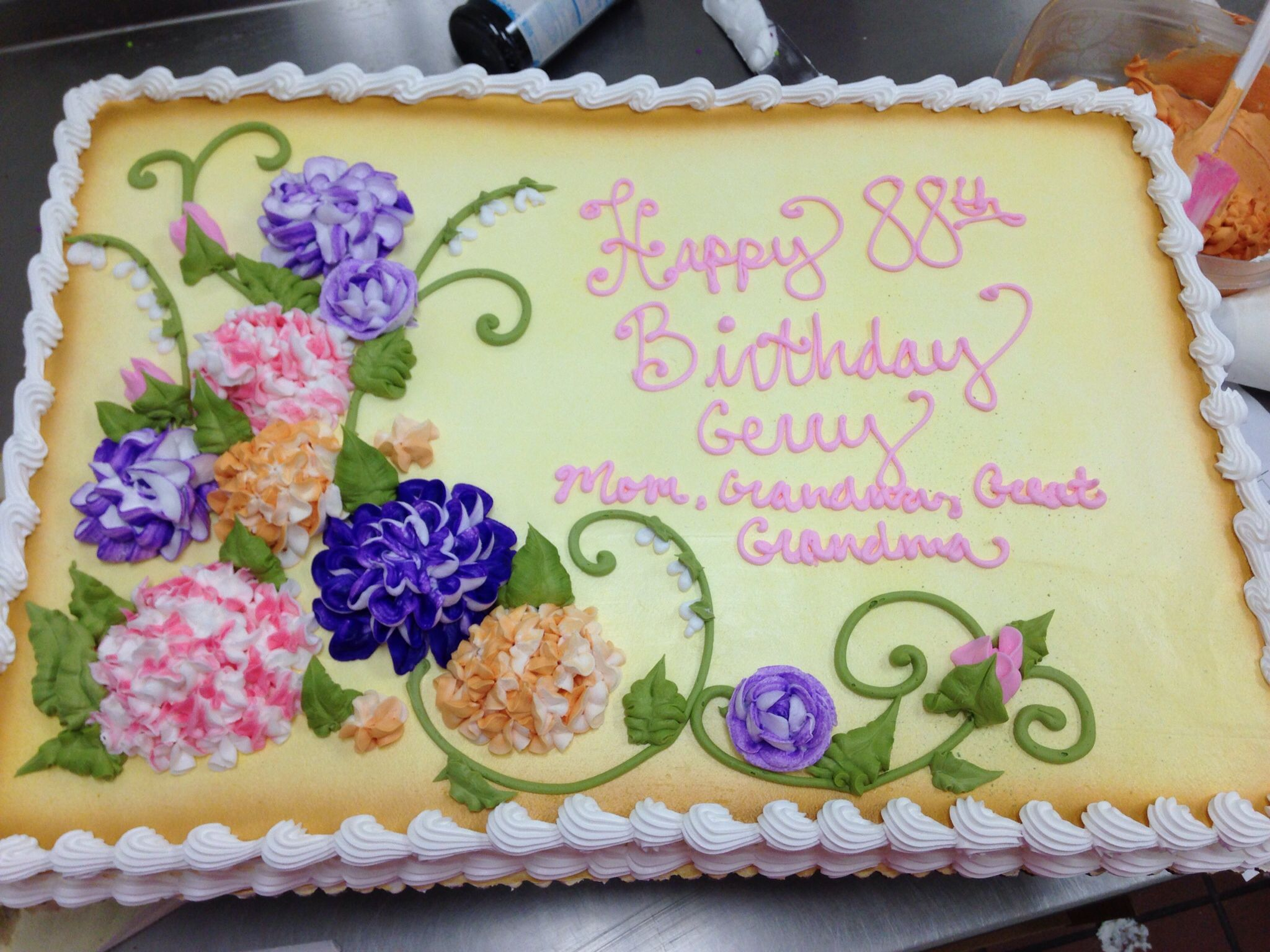 Sheet Cake Decorated With Flowers : Floral sheet cake Not your Grandmas Cakes! Pinterest