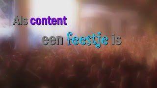 Als content een feestje is .... dan .... #klemtoonmedia #content