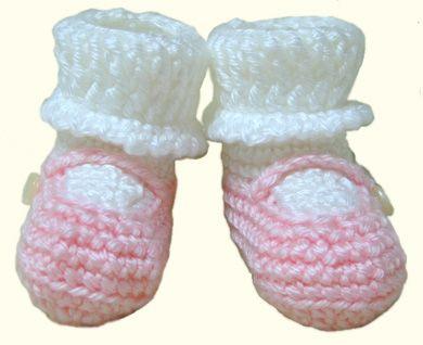 Mary Jane Knitted Booties Pattern Free Knitting Pattern Downloads