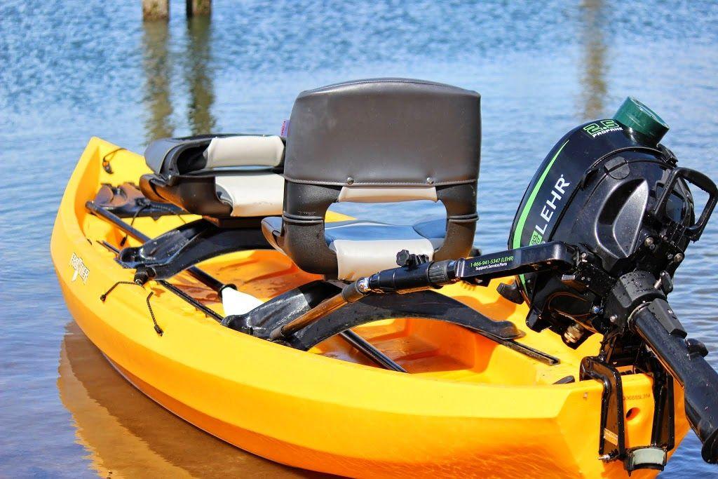 The World S First Propane Outboard Powered Kayak Nucanoe Kayak Fishing Kayaking Outboard