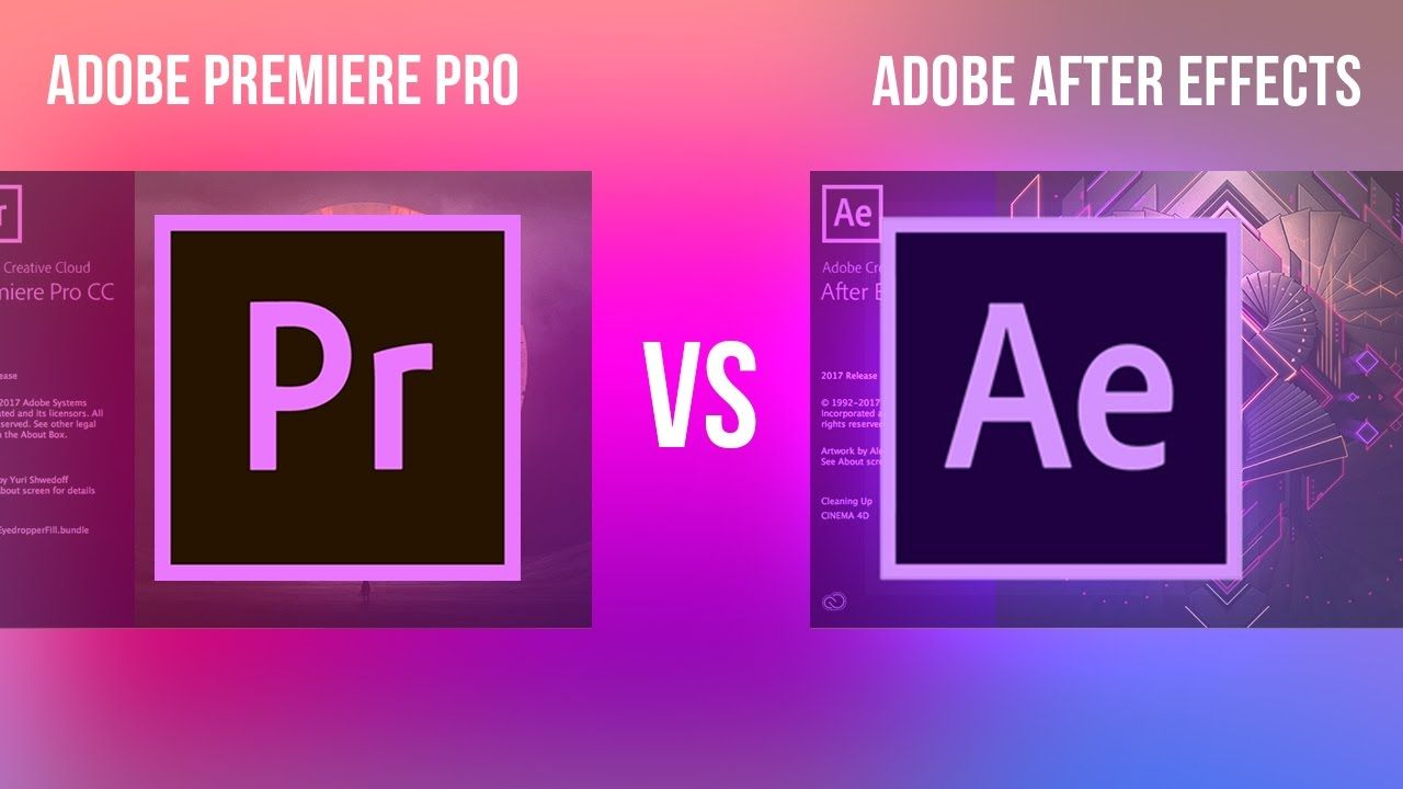 Adobe Premiere Pro Vs After Effects Cc What S The Difference
