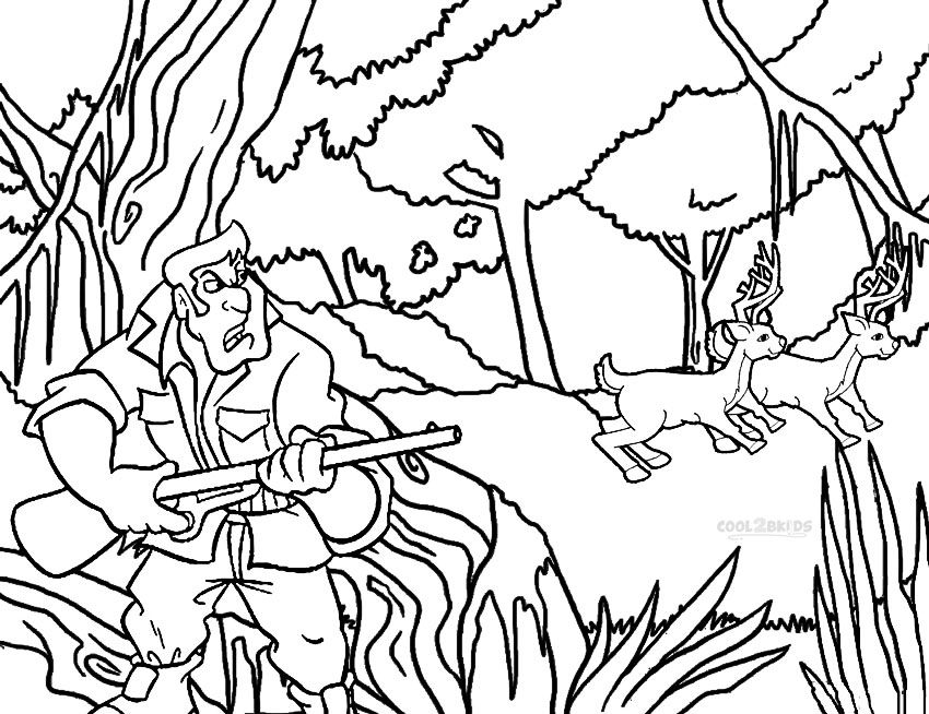 Hunting Coloring Pages Deer coloring pages, Animal
