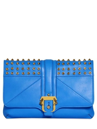 PAULA CADEMARTORI - SILVYE STUDDED LEATHER CLUTCH