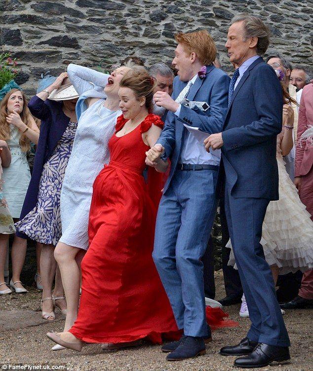 Rachel McAdams Gets Blown Away By The Wind As She Films
