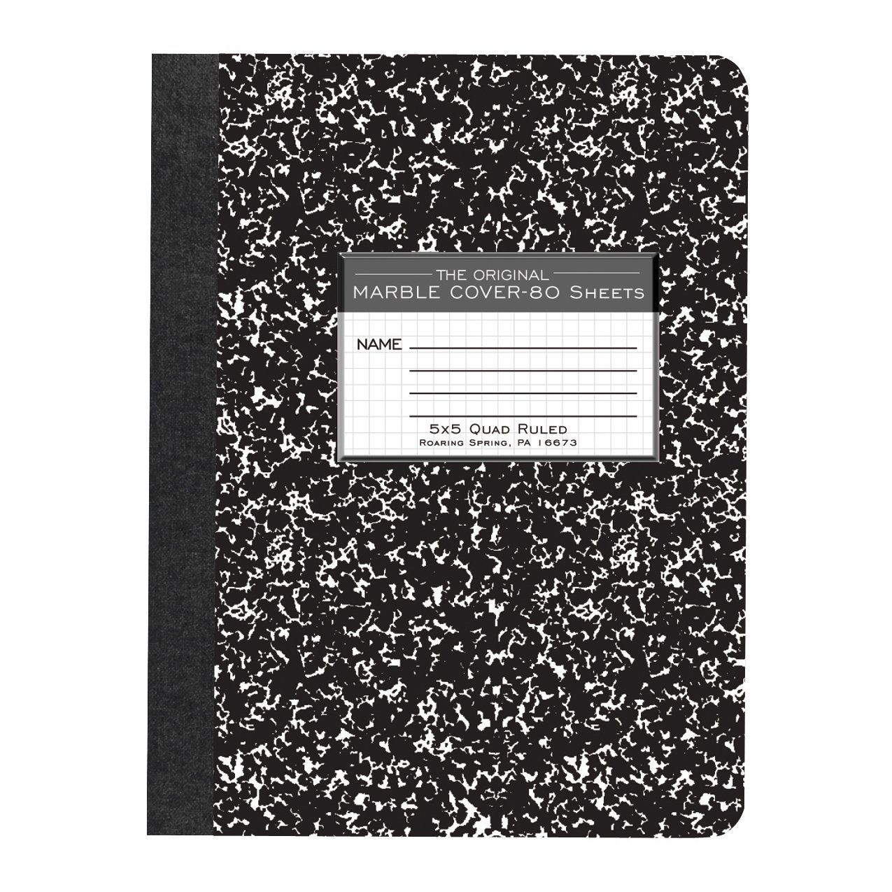 Amazon Com Roaring Spring Hard Cover Composition Book 9 3 X2f 4 Quot X 7 1 X2f 2 Quot Graph Ruled 80 Composition Book Composition Notebook Wide Ruled
