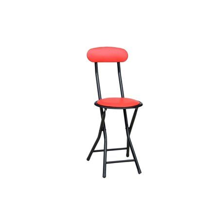 Admirable Storage Solutions Cushioned Vinyl Black Folding Stool With Ibusinesslaw Wood Chair Design Ideas Ibusinesslaworg