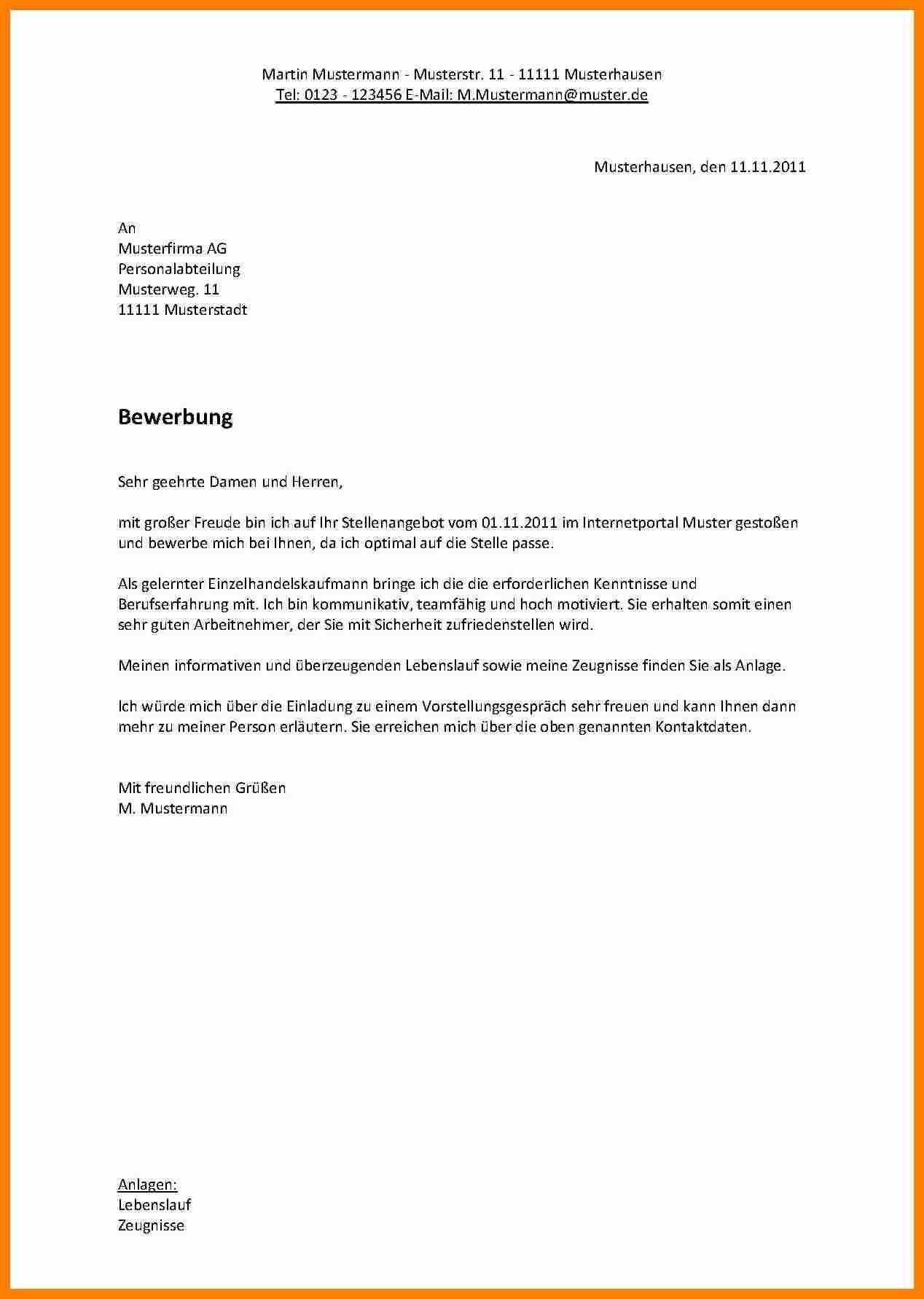 Einzigartig Bewerbung Nach Ausbildung Muster Briefprobe Briefformat Briefvorlage Bewerbung Schreiben Vorlage Bewerbung Bewerbung