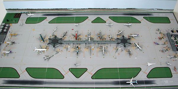 1 500 Dual Runway 1 Model Airport Model Airplanes City Model Model Trains