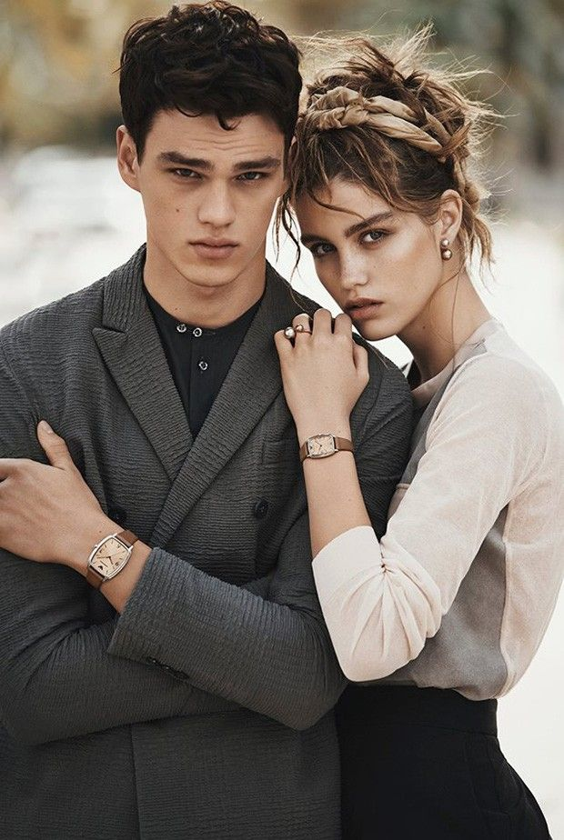 Carefree, piecey hair (Luna Bijl for Emporio Armani SS 2016 by Lachlan Bailey)