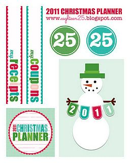 Free Christmas Planner Printables + more! : I'm an Organizing Junkie