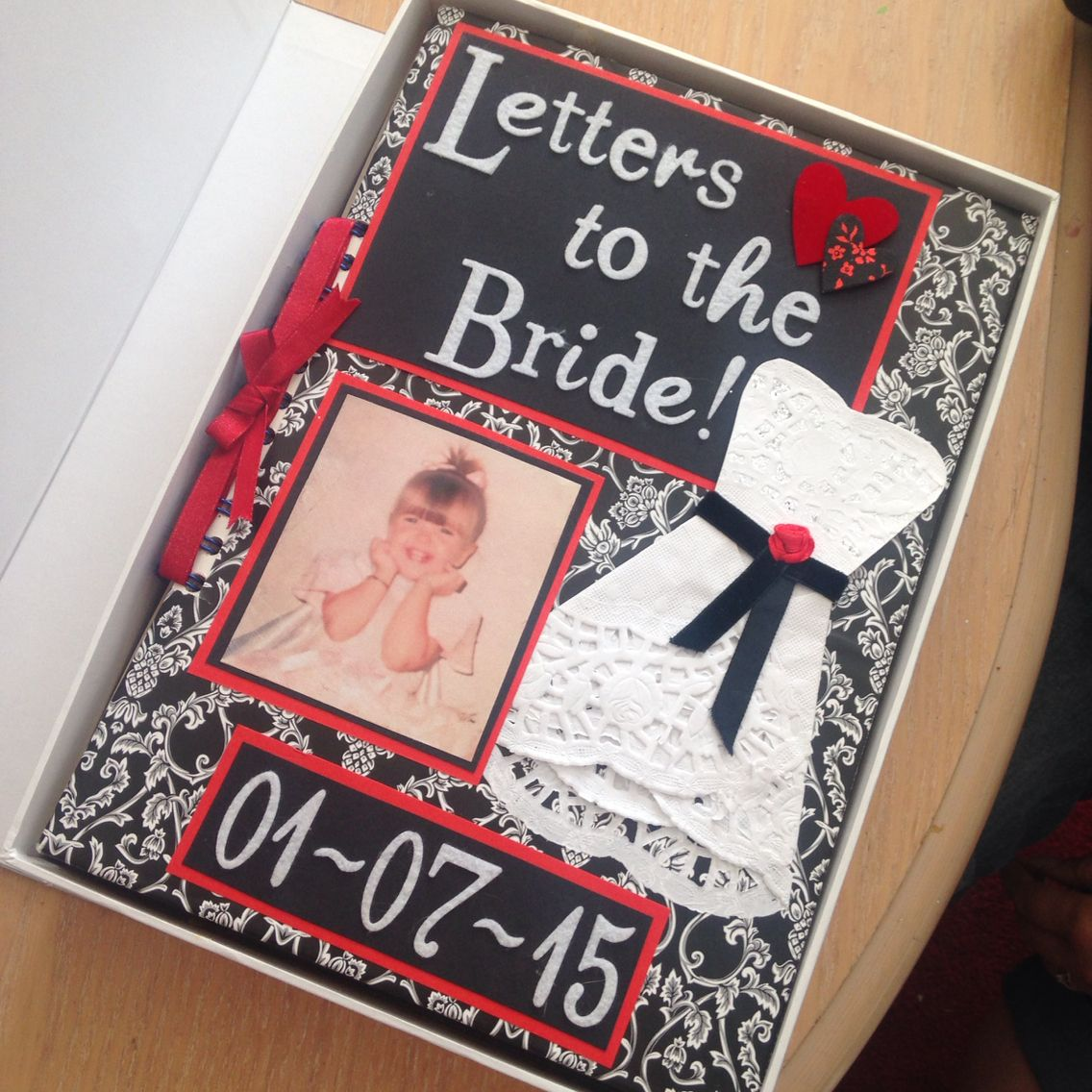 Letters To The Bride Scrapbook Given To My Sister The Night Before