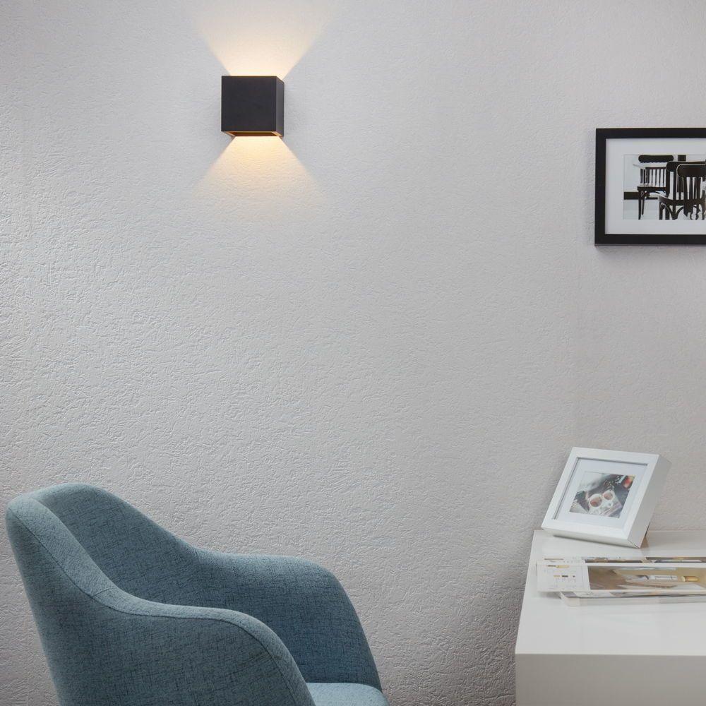 Famlights Led Wandleuchte Cube Aluminium In Anthrazit Wandleuchte Haus Deko Und Wandbeleuchtung