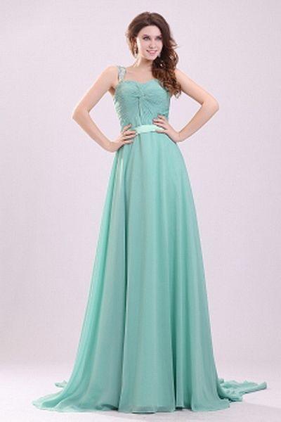 Ein-Schulter-Chiffon-Blaue Formale Kleider kv2370 - Silhouette: A ...