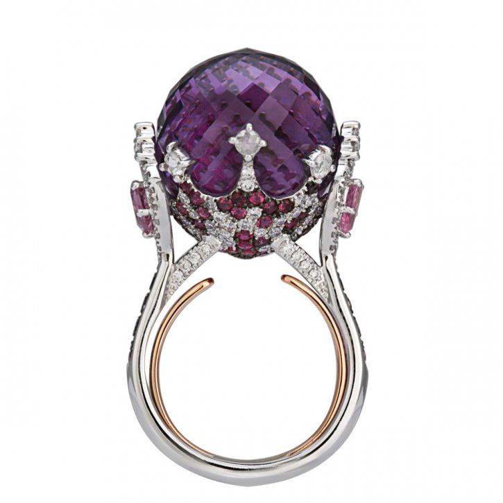 Sapphire ruby and diamond ring by Italian Design RINGS