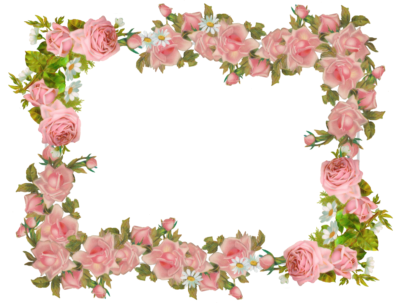 Free Digital Vintage Rose Frame And Scrapbooking Paper Rosenrahmen Freebie Meinlilapark Diy Printables And Downloads Rose Frame Vintage Roses Floral