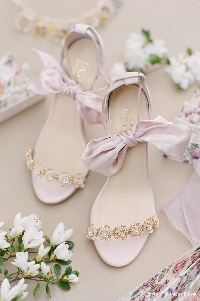 Mariee Blush Bow And Jewels Occasion Heel By Liv Hart