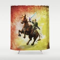 Legend Of Zelda Link Adventure Shower Curtain