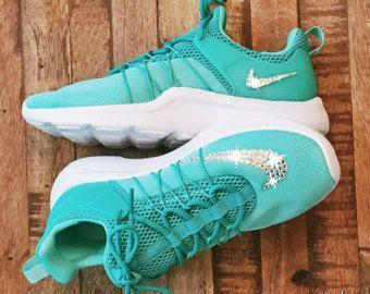 Womens Nike Darwin - Turquoise - Swarovski crystals - Bling Nike Shoes - Custom  Shoes - Nike Swarovski - Workout - Bling Nikes e1bcc0a94153