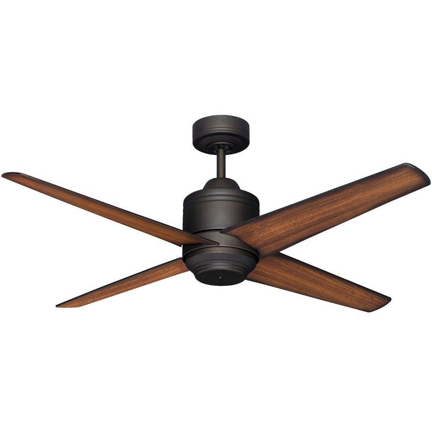 Pisa 52 1300mm Ceiling Fan No Light Modern Timber Blades