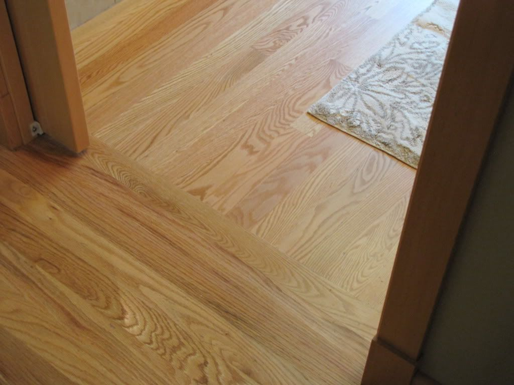 Wood floor transition photo for Hardwood wood flooring