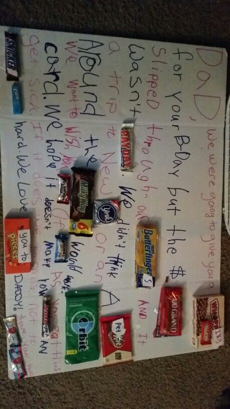 Birthday Card From Kids Using Candy I Recreated A Pin Pinterest