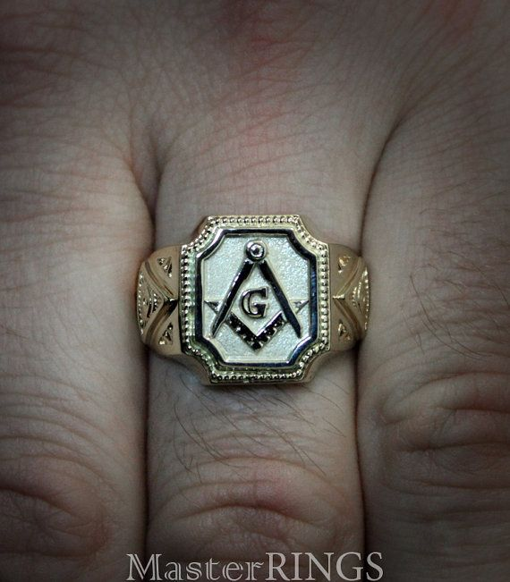 71c9020b56e87 Big masonic signet ring, Men masonic ring, All-Seeing Eye signet ...
