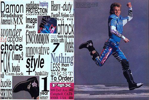 Fox Racing Damon Bradshaw 1989