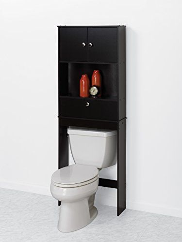 Zenna Home 9401CH, Drop Door Bathroom Spacesaver, Espresso  Http://www.furnituressale.com/zenna Home 9401ch Drop Door Bathroom  Spacesaver Espresso 2/