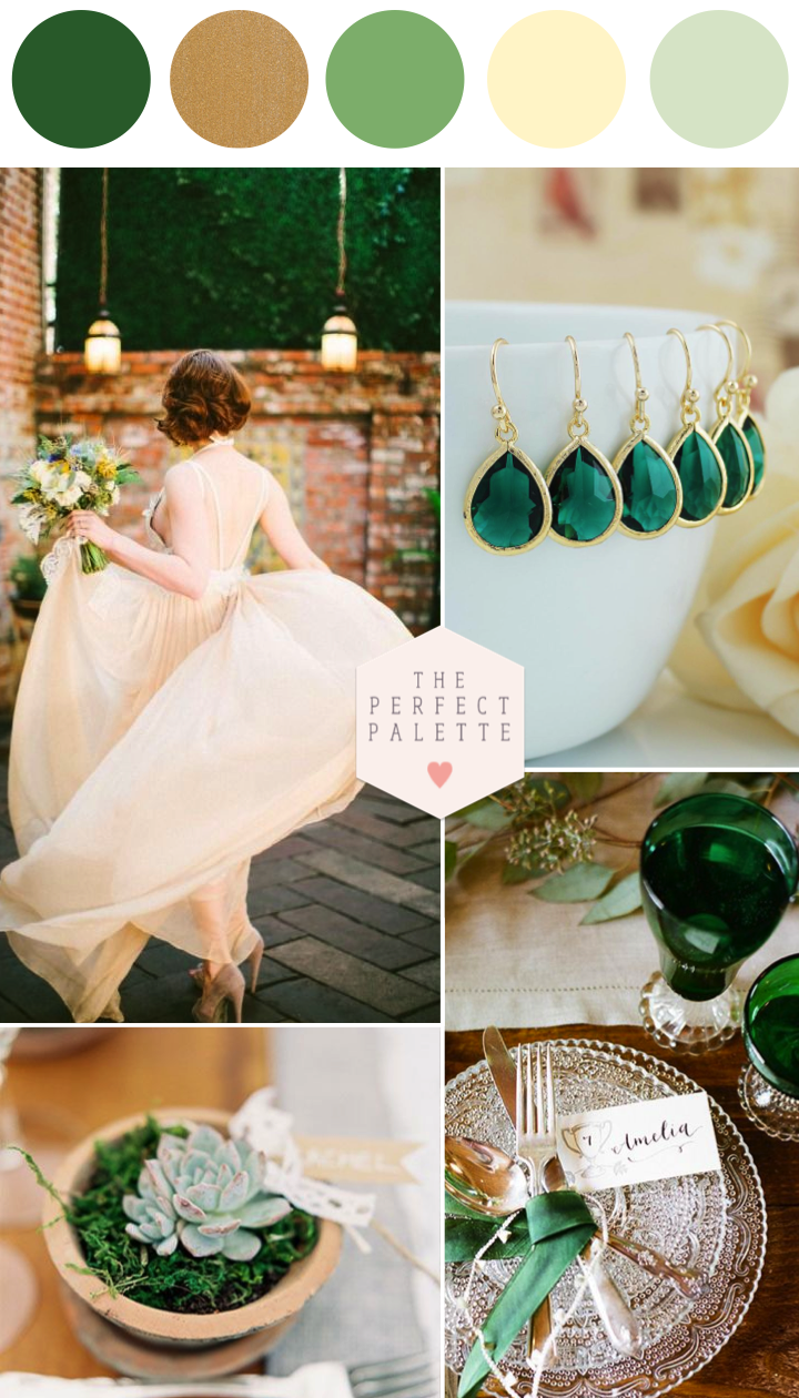 emerald and ivory wedding inspiration in 2019 | emerald