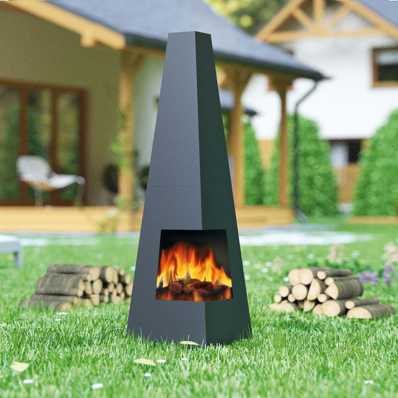 Feuerstelle cuba für garten und terrasse