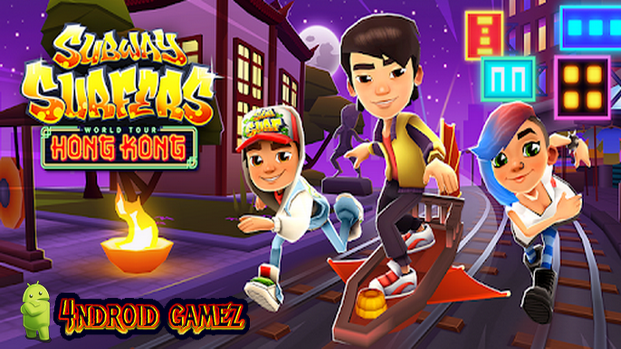 Watch Trailer and download android game Subway Surfers v1