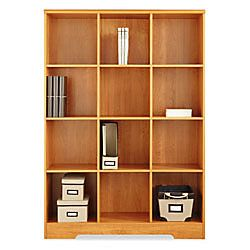 Attractive Office Depot Bookcase 129 Realspace Magellan 12 Cube Bookcase 63 916 H X 46  110 W X 15 58 D Honey Maple By Office Depot U0026 OfficeMax