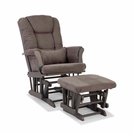 Storkcraft Tuscany Custom Glider and Ottoman, Brown