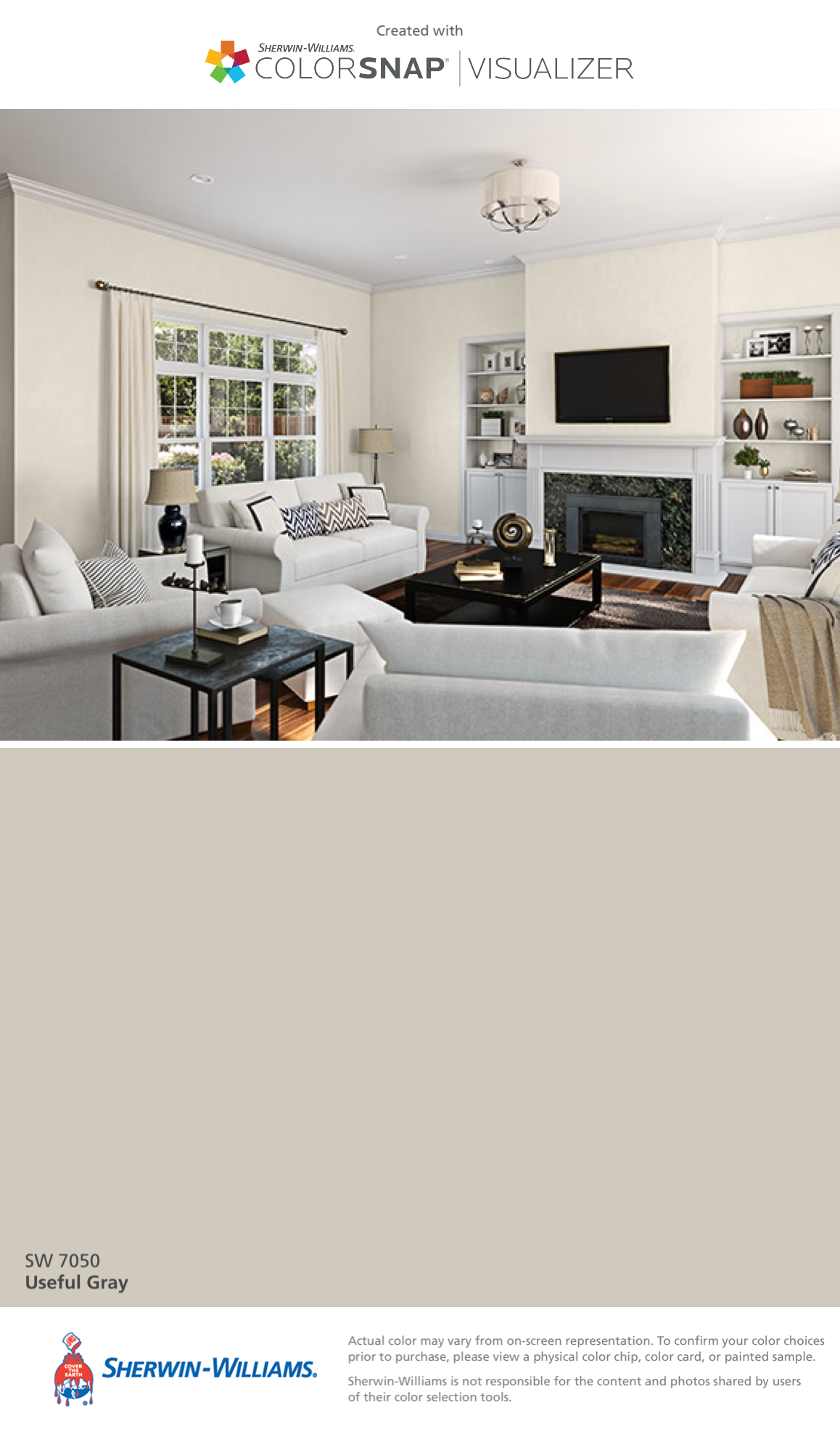 I Found This Color With ColorSnapR Visualizer For IPhone By Sherwin Williams Useful Gray SW 7050
